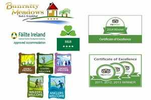 Approvals & Accreditations : You are all very Welcome at Bunratty Meadows